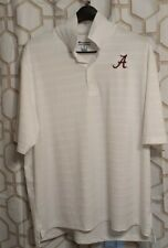 Alabama Crimson Tide Embroidered White Golf Polo XL Champion authentic athletic