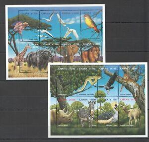 PK191 GHANA FAUNA ANIMALS BIRDS WILDLIFE OF AFRICA 2KB MNH STAMPS