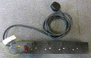 Office Electrics 4 Way UK Consort Under Desk Power Module PDU