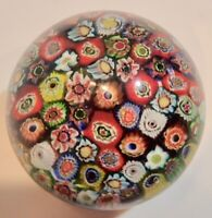 """Vintage Glass Paperweight  2.25"""" Tall Millefiori Slices            RET"""