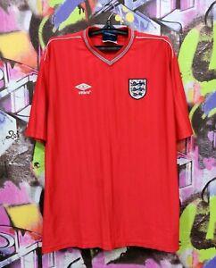England National Football Team Soccer Jersey Shirt Umbro Vintage Mens Size XXL