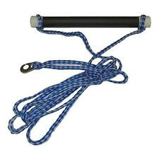 Ski Rope Single Handle with Sister Clip - Blue/White
