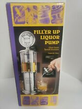 Liquor Pump by Godinger Silver Beverage. Filler Up. NEW