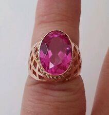 """Seltener Gold Ring 583er Russia """" Pink Sapphire """""""