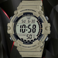 Casio AE1500WH-5AV WIDE FACE Digital Watch 100M WR 10 Year Battery 5 Alarms New