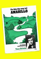 (Is this the way to) Amarillo - Tony Christie - 1971  vintage Sheet Music
