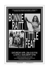 Bonnie Raitt / Little Feat 1973 Cleveland Concert Poster