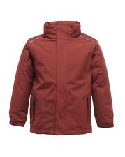 Regatta Childrens Jacket Waterproof Windproof Hood 98 - 176 Jacket Young Girl Burgundy 128