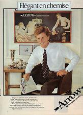 Publicité 1981  Chemise ARROW  collection pret à porter mode élégance