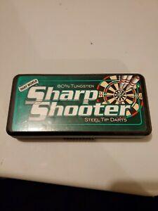 Sharp Shooter 22g Steel Tip Darts 80% Tungsten Packaged in USA Made in U.K