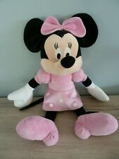 G11- GRAND DOUDOU PELUCHE PLAY BY PLAY SOURIS MINNIE ROBE ROSE POIS BLANC 45CMS