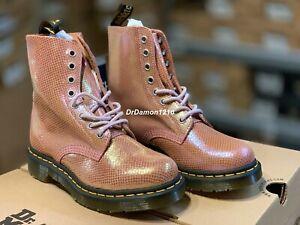 NIB Dr. Martens Women's 1460 PASCAL Boot  Iridescent Texture