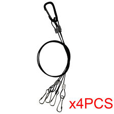 4X Hydroponics Hanging Kit Rope Hanger for Plant Grow Light LED Stainless Steel