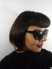 Lunettes de soleil papillon noires cats eyes retro vintage pinup reflets violets