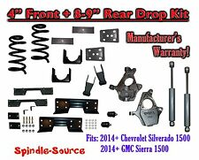 "2014 -2015 Chevy Silverado / GMC Sierra 1500 4"" / 8 - 9"" Drop Kit SHOCKS C-NOTCH"