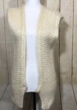 Pearl Mohair Rayon Blend Long Very Soft Sweater Vest Size S ELLEN TRACY (23B)