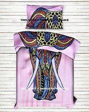 Ethnic Indian Style Duvet Cover Elephant Mandala Print Bedding Blanket Cover Set