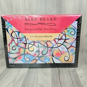 """New ALEX BEARD IMPOSSIBLE PUZZLE 315 WOOD PIECES """"Hurricane"""" Jigsaw Sealed"""