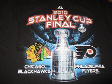 2010 CHICAGO BLACK HAWKS Stanley Cup Final PHILADELPHIA FLYERS (LG) T-Shirt