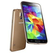 Samsung Galaxy S5 3G SM G900H Gold Unlocked C *VGC* + Warranty!!