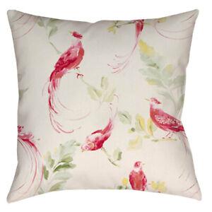 HANDMADE cushion covers Use Laura Ashley Harewood grapefruit pink Fabric birds