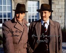 POIROT 8x10 photo signed by Philip Jackson and Hugh Fraser