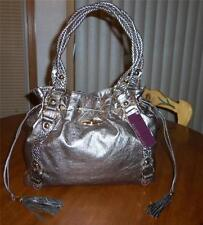 ELLIOTT LUCCA EL SIGNATURE METALLIC LEATHER DRAWSTRING TASSEL TOTE-MSRP$348 -NWT