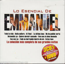 NEW - Lo Esencial De Emmanuel CD 3 CDs + 1 DVD  14 Videos