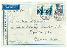 NEDERLAND ZEPPELIN 1937-7-9  ARGENTINA ( TR CT 172½ )   CV  FINE DEFECTS