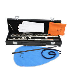 LADE - SILVER Flute 16 Key C-foot Flute • Case • Perfect For School Student - AU