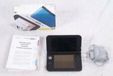 Nintendo 3ds XL consola azul con jugar con embalaje original + cable de carga-usado