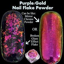 8 Colours Chameleon Nail Flake Glitter Powder Broken Glass Foil Sequins Nail Art