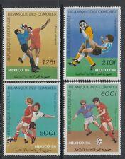 XG-T287 COMOROS IND - Football, 1986 Mexico '86 World Cup MNH Set