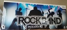 Wii ROCK BAND Special Edition Bundle Game+Guitar+Drums Brand New Sealed! NIB