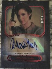 STAR WARS CARRIE FISHER WOOD AUTO 6/10 TOPPS MASTERWORK LEIA AUTOGRAPH RARE