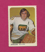 RARE 1973-74 WHA QUAKER OATES COUGARS JIM MCLEOD GOALIE MINI CARD (INV#2025)