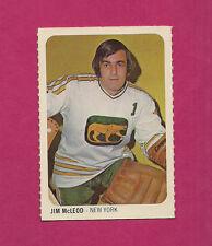 RARE 1973-74 WHA QUAKER OATES COUGARS JIM MCLEOD GOALIE MINI CARD (INV#2025)