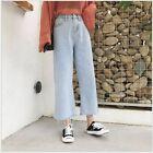 Fashion Women Loose Denim Pants High Waisted Denim Boyfriend Jeans Trousers LN