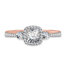 Hallmarked 14K Gold 1.50Ct Diamond Womens Ring  Solitaire Engagement Rings SizeP