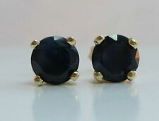 Natural Sapphire Round Not Enhanced Fine Earrings
