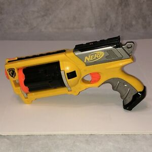 Nerf Maverick REV-6 N-STRIKE Dart Gun Yellow Pistol Handgun