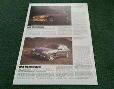 Autocar héroes 205 de septiembre de 1987 Peugeot 1.9 GTI & 309 GTI Reino Unido Folleto De Una Hoja