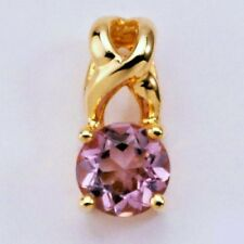 NEW 9K SOLID GOLD PENDANT. GENUINE NATURAL AMETHYST,