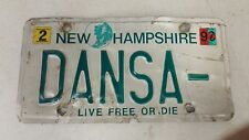 2000 NEW HAMPSHIRE Live Free or Die License Plate DANSA-