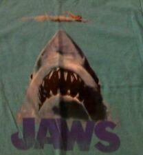 JAWS Universal Movie Shark Swimmer Logo Green Graphic T-Shirt L Large