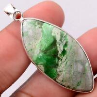 Natural Utah Variscite 925 Sterling Silver Pendant Jewelry SDP65521
