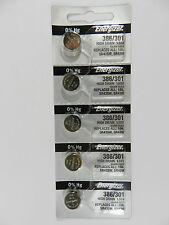 Energizer  386  SR43SW, SR43W  Button Cell  Watch Battery, 5Pcs