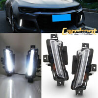 For Chevy Camaro 2016-2018 ZL1 DRL Fog Light LED White Lamp No Turn Signal