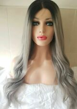 Grey Silver Human Hair Wig, Lace Front Wig