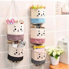 Wall Mount Storage Bag Organizer Mounted Holder Hanging Pouch Home Pockets Bags